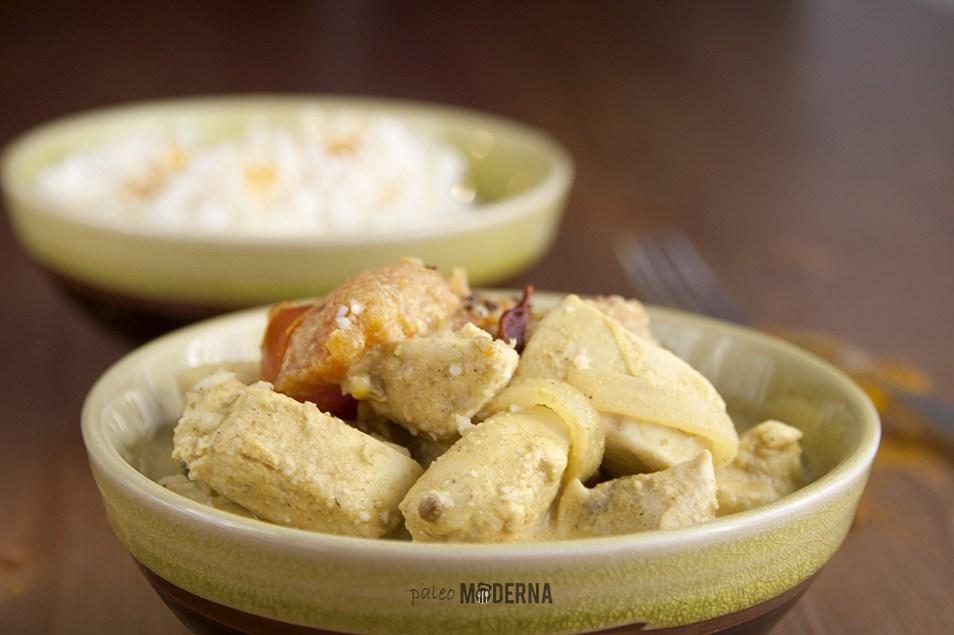 Pollo Tikka Masala con arroz de coliflor