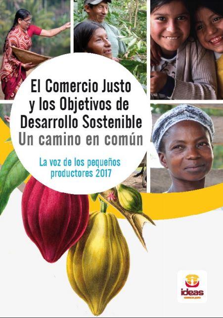 Portada del informe: sobre comercio justo y desarrollo sostenible