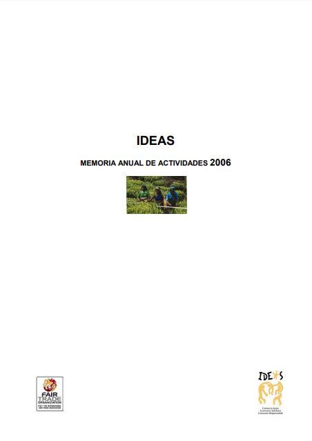 Portada de la memoria de 2006 de Ideas