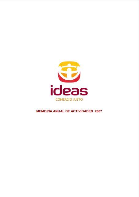Portada de la memoria de 2007 de Ideas