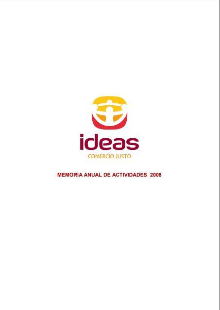 Portada de la memoria de 2008 de Ideas