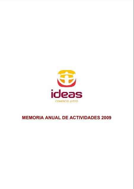 Portada de la memoria de 2009 de Ideas