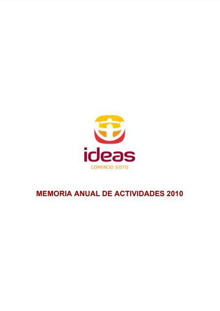 Portada de la memoria de 2010 de Ideas