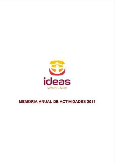 Portada de la memoria de 2011 de Ideas