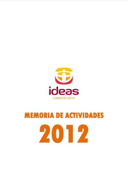 Portada de la memoria de 2012 de Ideas