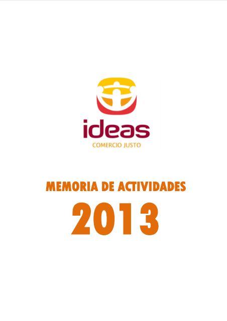Portada de la memoria de 2013 de Ideas