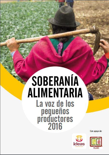 Portada del informe: Soberanía alimentaria