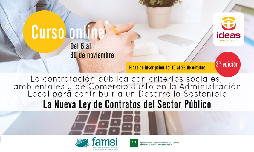 Tercera edición del curso online sobre Contratación Pública