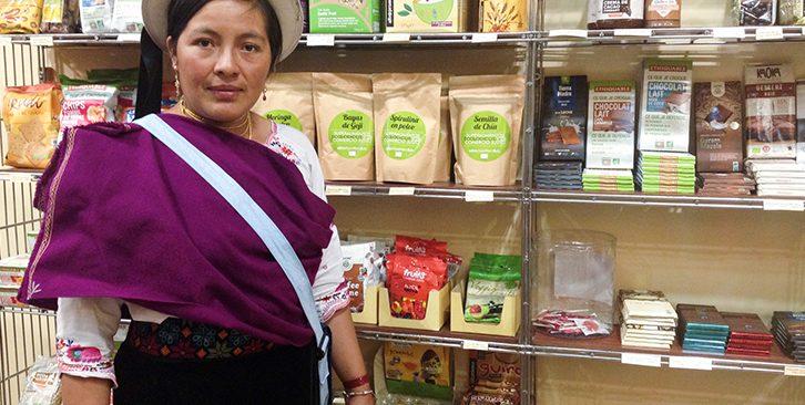 Gloria Sagñay Productora de quinoa de Comercio Justo