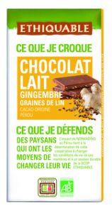 Chocolate con leche y jengibre