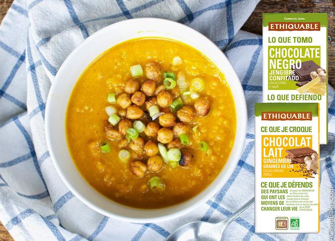 Sopa de quinoa con verduras y dos caprichos de chocolate contra resfriados