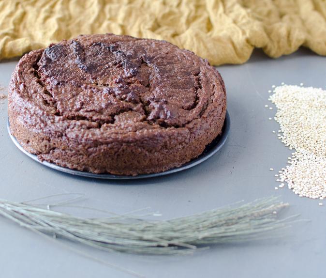 Bizcocho de chocolate con quinoa