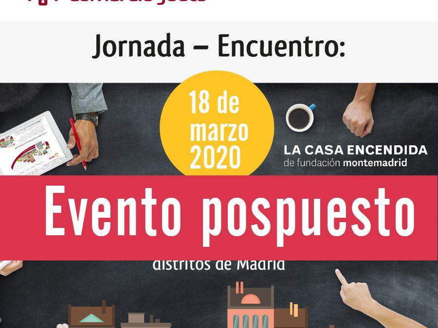 """Jornada – Encuentro: """"Barrios por el Comercio Justo. El Comercio Justo como herramienta para impulsar la Compra Pública Ética y contribuir a la Agenda 2030 desde los distritos de Madrid"""""""