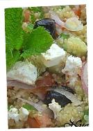 Ensalada de quinoa a la griega