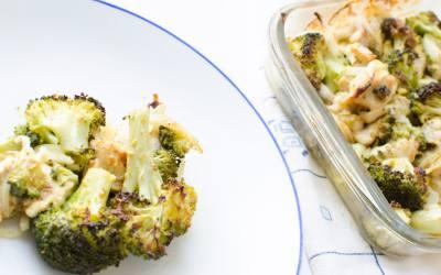Receta de brócoli al horno con pollo