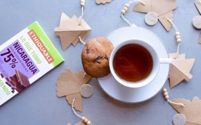 Cookies casera con pepitas de chocolate negro