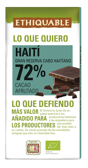 Chocolate gran reserva de Comercio Justo BIO