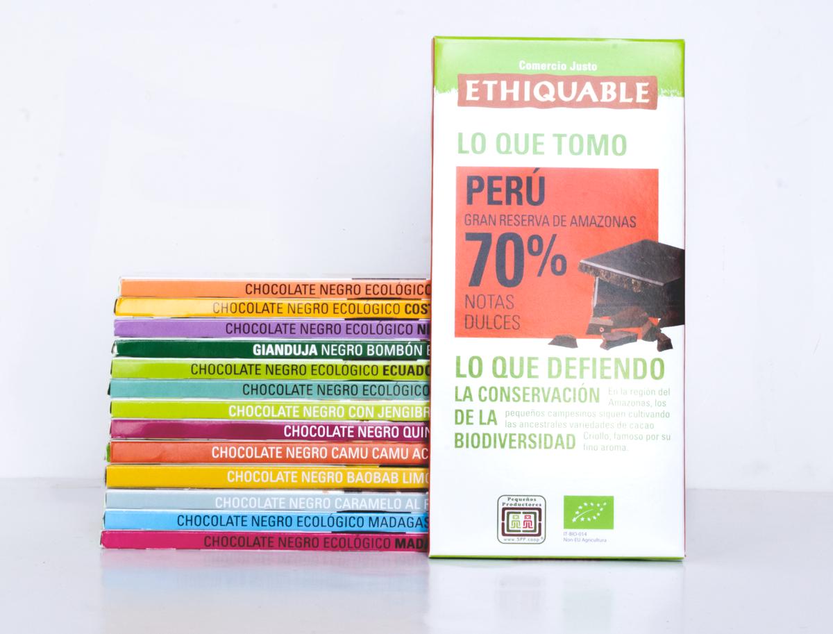 Gama chocolate de Comercio Justo ethiquable