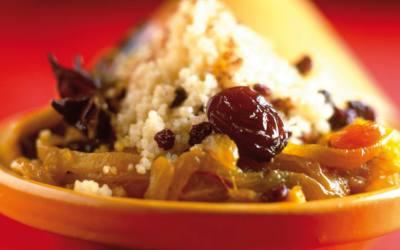 Cous cous palestino con frutos secos